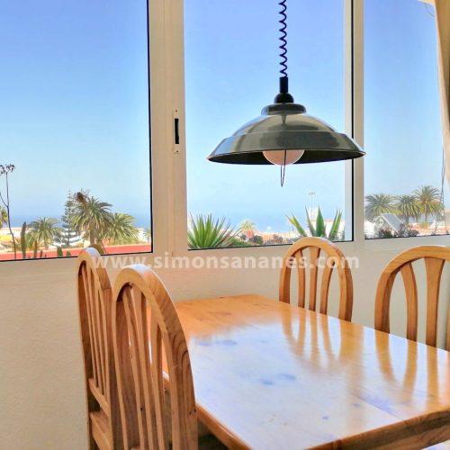 1-SZ Wohnung in El Toscal mit Blick auf Atlantik und Orotavatal zu verkaufen