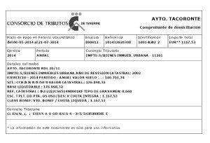 Neuer Grundsteuerbeleg vom Consorcio de Tributos auf der Online-App