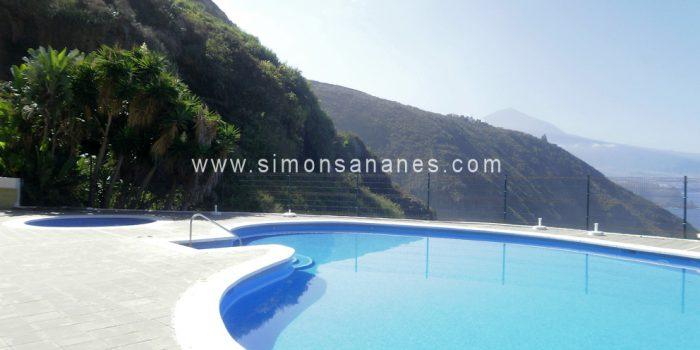 1SZ Apartment mit Pool und unverbautem Blick auf Küste und Teide