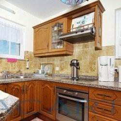 Küche. Chalet in El Pris, Tacoronte mit Meer- und Teideblick