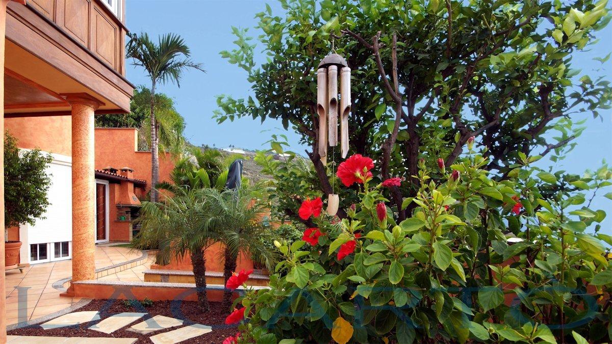 Garten. Chalet in El Pris, Tacoronte mit Meer- und Teideblick