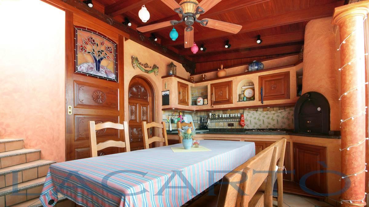 Barbecue Grill mit Weinstube mit Klimaanlage. Chalet in El Pris, Tacoronte mit Meer- und Teideblick
