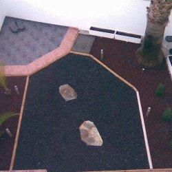 Jardin con riego. Vista desde arriba. Casa El Rio en venta