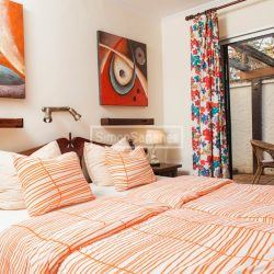 Schlafzimmer und Terrasse. Apartment La Palmita