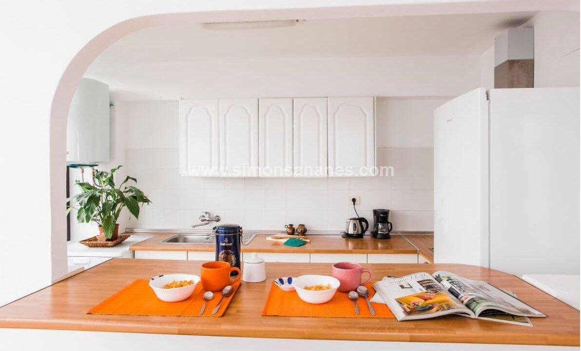 2-Schlafzimmer-Wohnung-Puerto-de-la-Cruz.-Küche