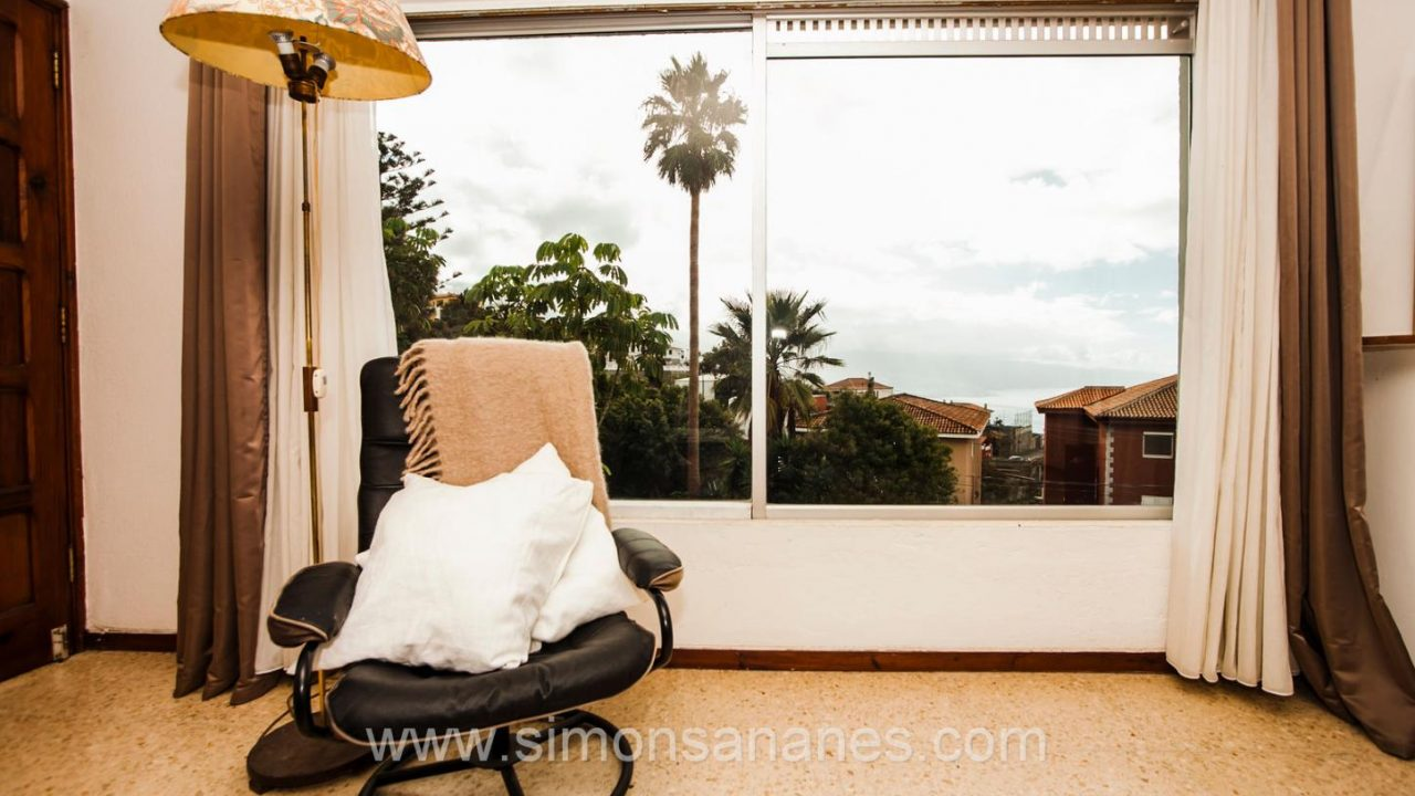 Blick aus WZ. Haus El Sauzal mit Blick Teide + Atlantilk