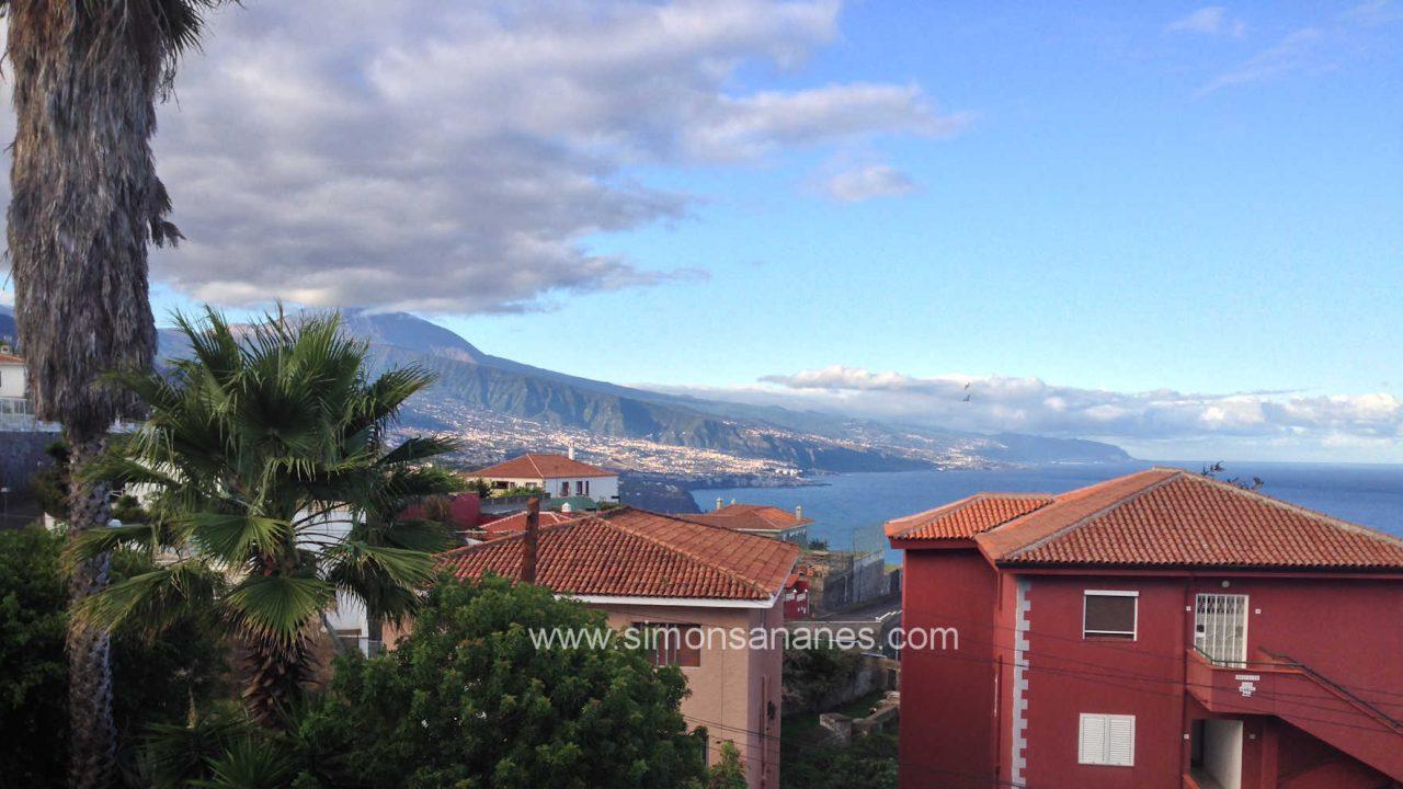 Chalet El Sauzal Blick Teide aus Wohnzimmer