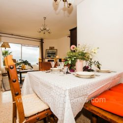 Essecke mit Blick. Haus El Sauzal mit Blick Teide + Atlantilk