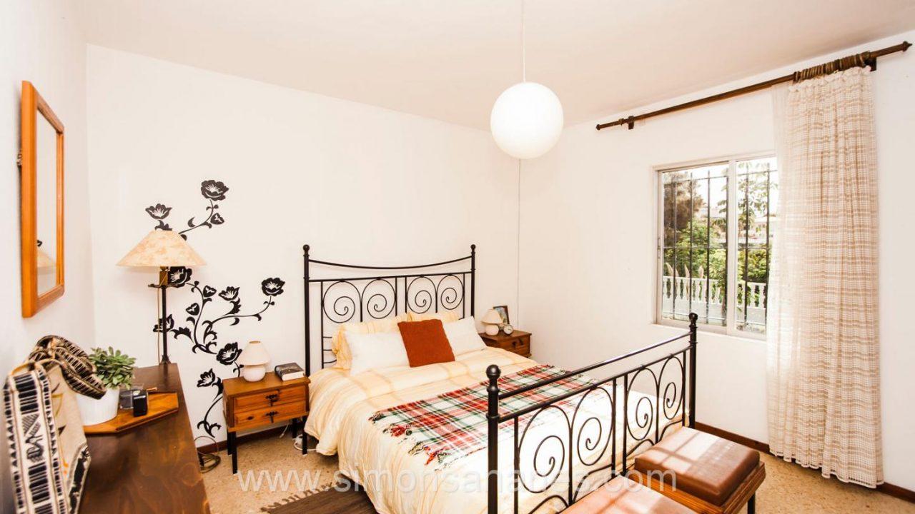Haupt-Schlafzimmer Blick. Haus El Sauzal mit Blick Teide + Atlantilk
