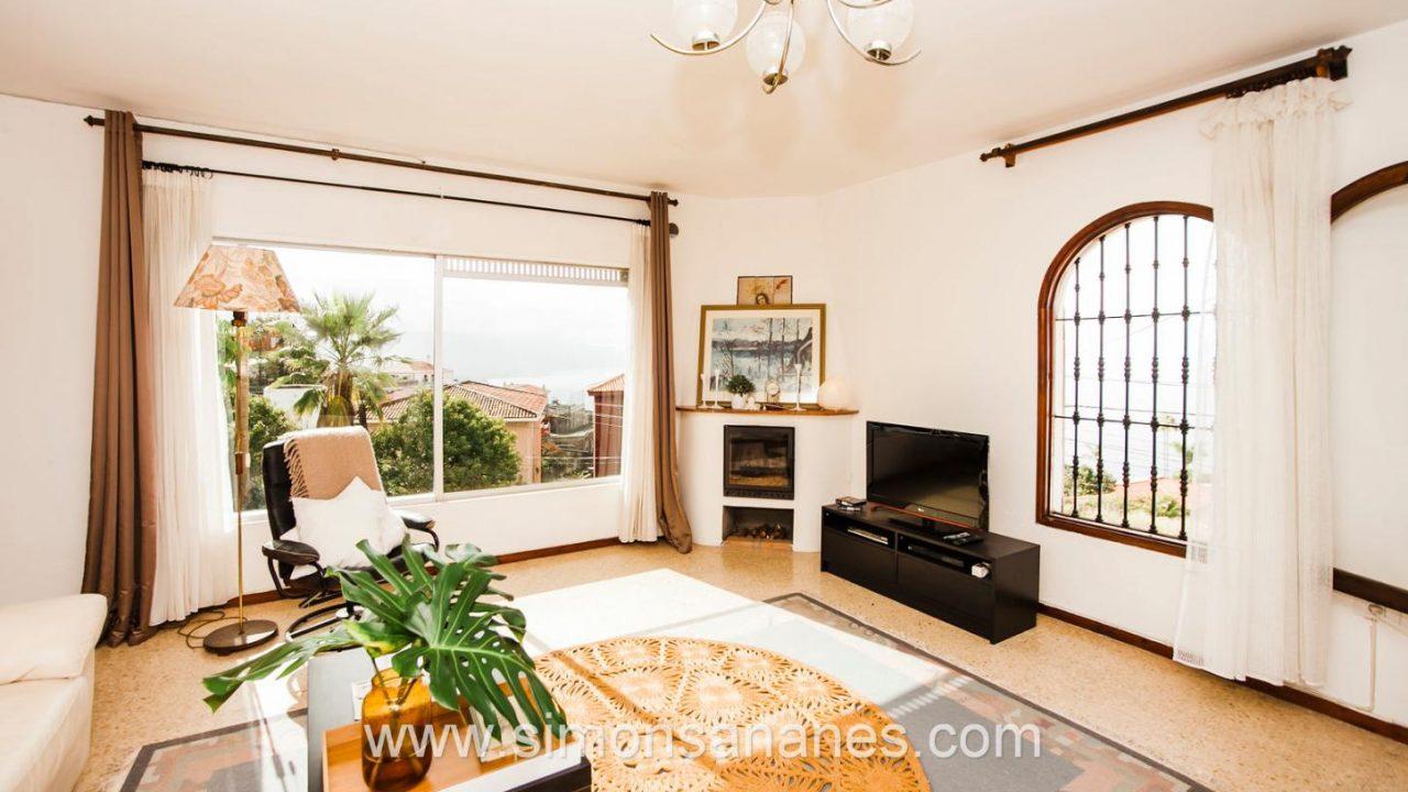 WZ mit Blick Atlantik. Haus El Sauzal mit Blick Teide + Atlantilk