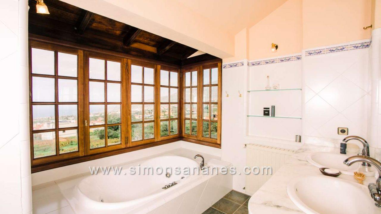 Luxus Villa La Orotava. Bad ein suite Blick