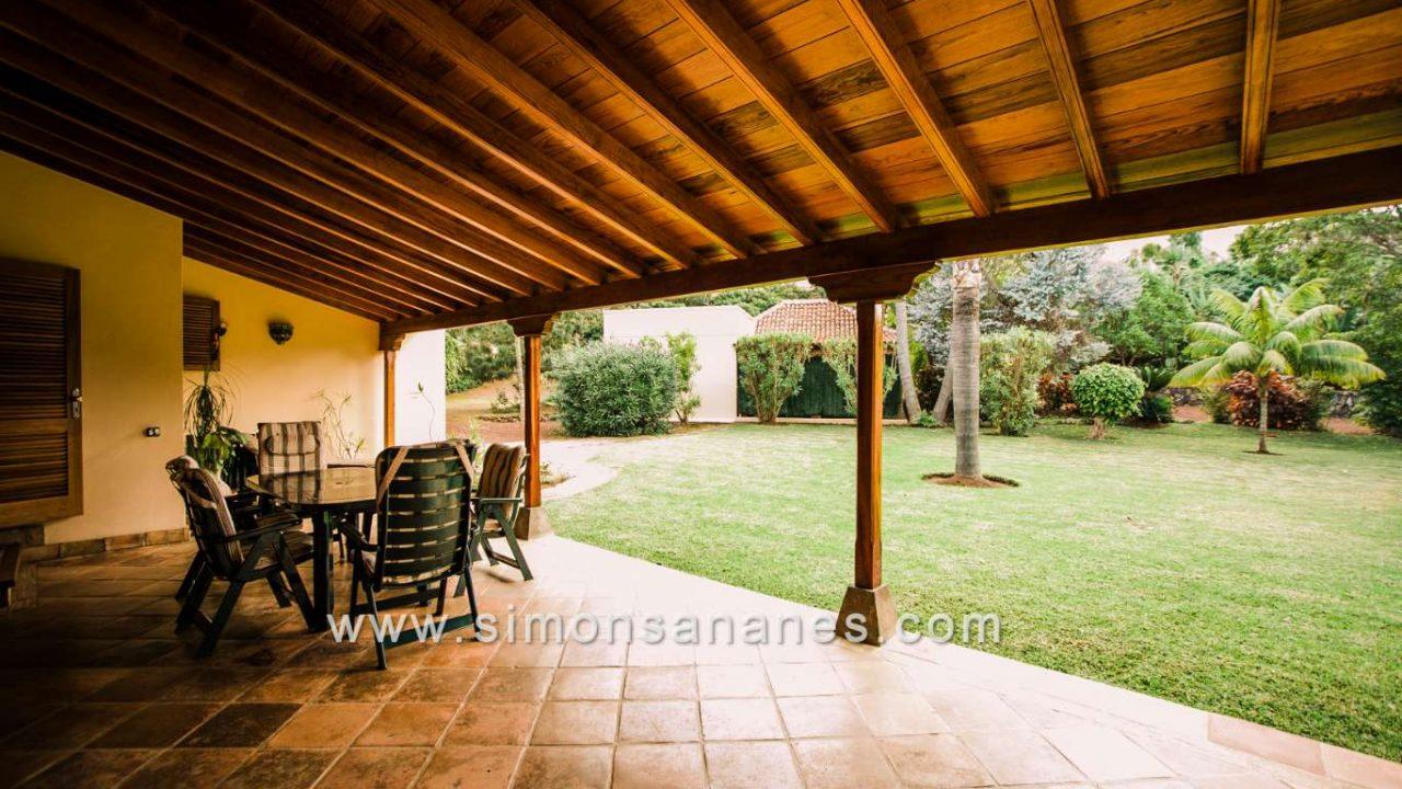 Luxus Villa La Orotava. Blick Garten