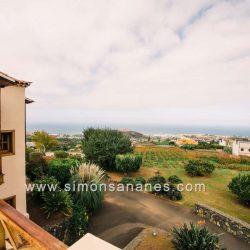 Luxus Villa La Orotava. Blick Terrasse OG auf Atlantik