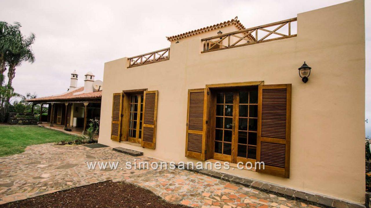 Luxus Villa La Orotava. Fassade Süden