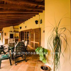 Luxus Villa La Orotava. Veranda südlich
