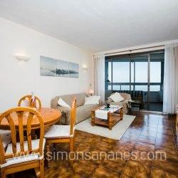 Apartment mit Meerblick. Wohnzimmer