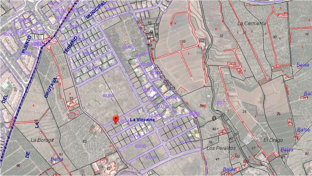 Plano - Karte La Boruga - La Orotava